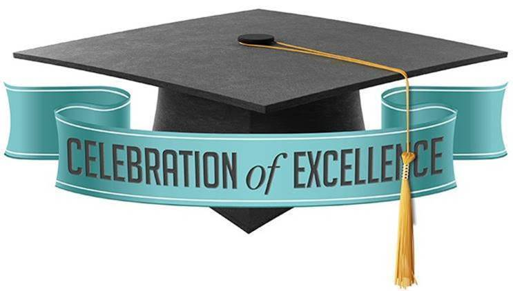 Mortarboard and banner reading Celebration of Excellence